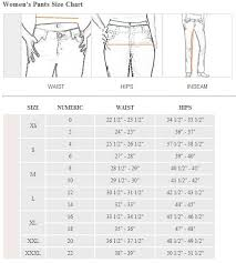 Pants Size Chart Female Womens Pant Size Pant So