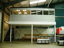 office mezzanine. Gloucestershire Raised Double Skin Steel Sound-reduced Production  Offices Maximize Shop Floor Space, Stoke- Storage Mezzanine Office