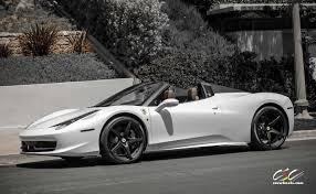 ferrari 458 white interior. black u0026 white allover ferrari 458 spider with cec forged wheels interior