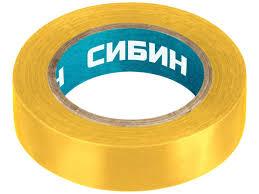 <b>Изолента Сибин ПВХ</b> 15mm x 10m Yellow 1235 5 - Чижик