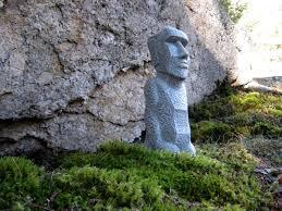 3 of 6 easter island statue concrete moai statues garden decor easter island head