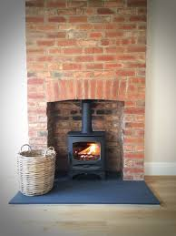charnwood c five riven slate hearth brick fireplace