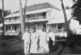 makea file queen and makea and the captain palace grounds in rarotonga