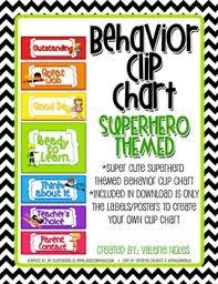 Behavior Clip Chart Superhero Themed
