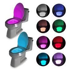 Bathroom Led Night Lights Us 1 88 46 Off Smart Bathroom Toilet Led Nightlight Pir Body Motion Sensor Seat Light Waterproof Bowl Led Night Lights 8 Colors Wc Toilet Light In