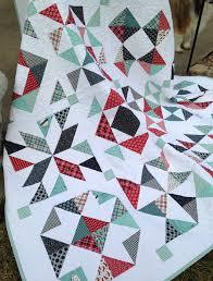 Feed Company Half-Square Triangle Quilt | Hummingbird Thread & Feed Company Half-Square Triangle Quilt Adamdwight.com