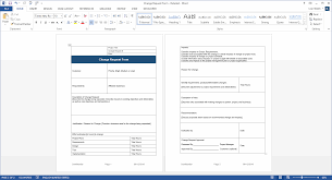 Change Management Form Template Change Management Plan Download MS Word Excel templates 1