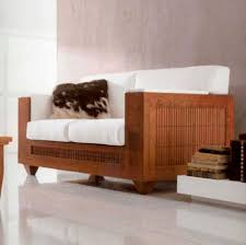 contemporary wood sofa. Contemporary Sofa / Wooden 2-person White - A1234/2 Wood