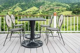 iron patio furniture. Table And Chair On Terrace Iron Patio Furniture U