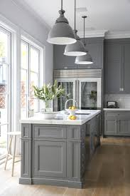 White Kitchen With White Granite Picture Of Classic Kitchen With Gray Cabinetry And White Granite