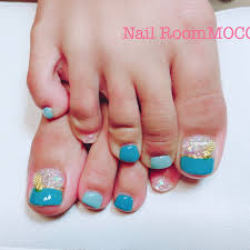 夏フット Makiko Nail Room Mocoのネイルデザインno3367524