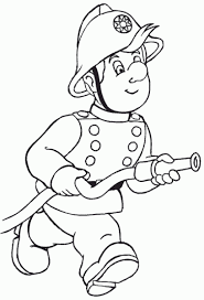 Small Picture Fireman Coloring Sheet Fireman Sam Coloring Pages On Coloring Book