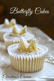 Traditional British Butterfly Cakes Or Fairy Cakes Cupcakes