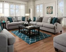 4 piece living room set rosalie gray