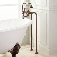 freestanding telephone tub faucet supplies cross handles oil rubbed bronze