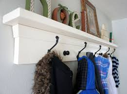 Entryway Shelf And Coat Rack Hand Made Entryway Coat Rack Shelf by KellieShelves CustomMade 1
