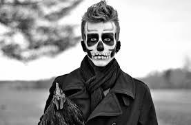 men s sugar skull makeup half face cartooncreative co