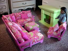 making doll furniture. Doll Couch Chairs Living Room Furniture Sectional For American Girl Dolls Or 18-inch Making D
