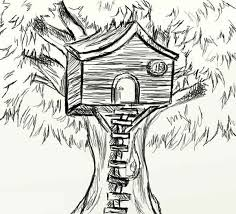 Small Picture Sketch of Treehouse Coloring Page Sketch of Treehouse Coloring