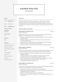 Web Designer Resume Sample Free Download Web Designer Resume Example Template Sample Cv Formal