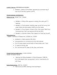 General Maintenance Resume New Field Technician Resume Cable Service Home General Maintenance