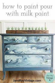 How To Paint Pour With Milk Paint YouTube Video Jami Ray Vintage Unique Sweet Home 3D Furniture Painting