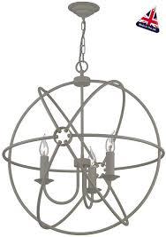david hunt orb 3 light ceiling pendant ash grey matt 60cm