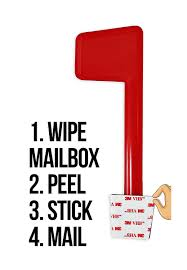 mailbox flag dimensions. Universal Peel And Stick Mailbox Flag Replacement Dimensions I