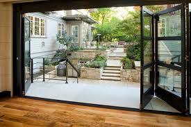 accordion glass doors with screen. accordion doors patio traditional with door glass landscaping multi level screen n