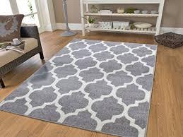 gray moroccan trellis 2 0x7 6 area rug carpet large new 2x8
