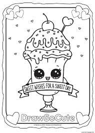 Draw So Cute Kleurplaten For Cute Tekeningen Food Kleurplaat In Cute
