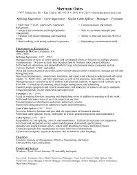 Cable Splicer Free Resumes Free Resumes