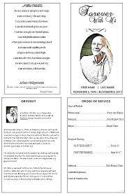 Free Funeral Service Program Template Inspirational