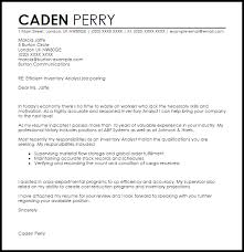 Inventory Analyst Cover Letter Sample Cover Letter