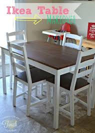 ikea kitchen table makeover tutorial