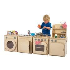 natural wooden kitchen set