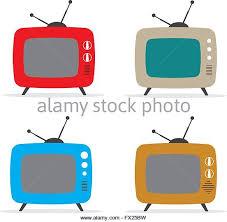 retro tv clip art. vector illustration of retro tv set - stock image tv clip art