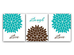 prints live laugh love turquoise wall