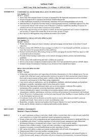 Real Resume Samples Real Estate Specialist Resume Samples Velvet Jobs 22