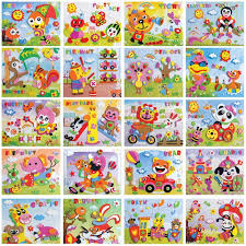 2019 kids toys diy eva foam cartoon animal pattern sticker personal handwork puzzle paper board developing toys educational toys from dhtradeguide
