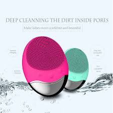 <b>Wireless charge Electric</b> Face washing Cleaning Massage Brush ...