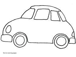 Ferrari Logo Coloring Pages Drawn Little Car Free Colouring Verfutbol