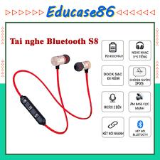 Tai nghe bluetooth sport s8 âm thanh chất lượng, nhỏ gọn – Educae86
