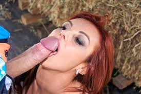 Horny Latina redhead Lilyan Red takes a good hard outdoor dicking.
