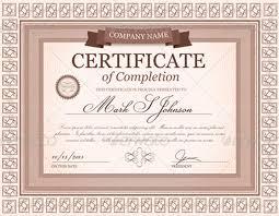 Formal Certificates Graduation Certificate Templates Creativetemplate