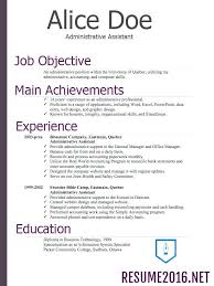 Chronological Resume Template Example Of Chronological Resume Non
