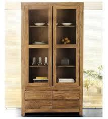 cassia crockery cabinet with glass doors