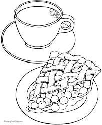 Small Picture Thanksgiving Coloring Pages Pumpkin Pie Coloring Pages Coloring