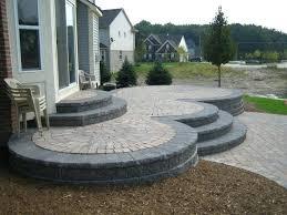 raised concrete deck ideas patio or