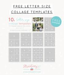 Free Letter Size Collage Templates Strawberry Kit